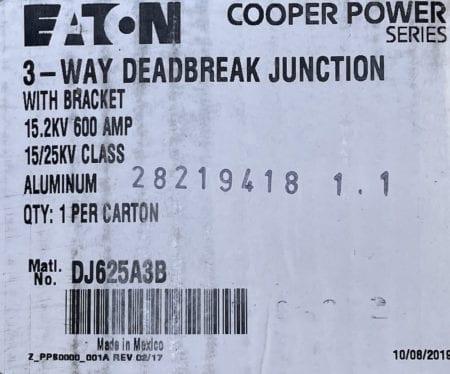 Eaton DJ625A3B-NIB