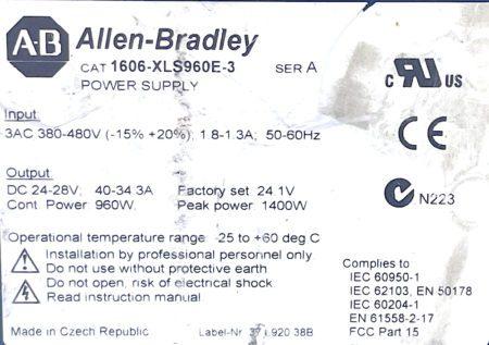 Allen Bradley 1606-XLS960E-3