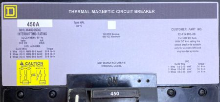 Square D MHL3645025DC-NML-GL