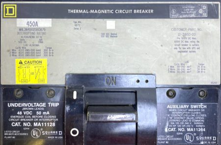Square D MHL3645025DC1679-GL-AUX-UV