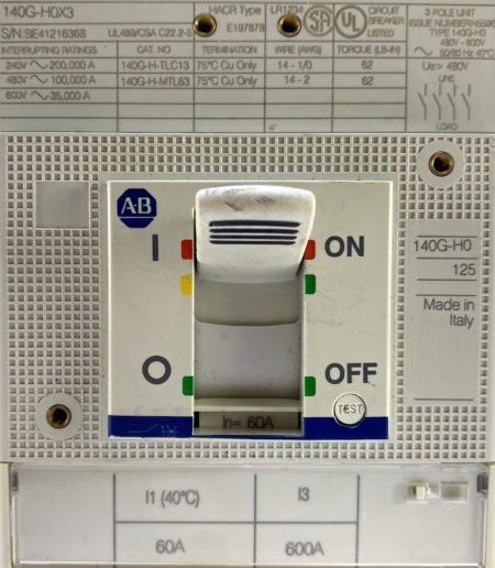 Allen Bradley 140G-H0C3-C60