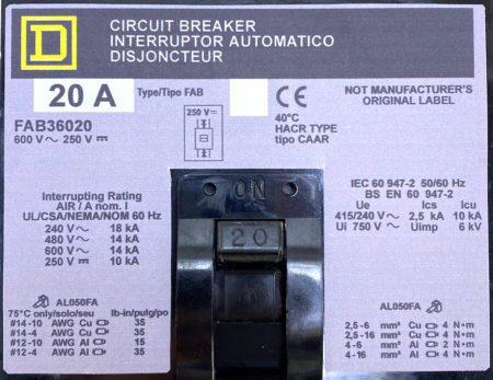 Square D FAB36020-NML-GL-LIR