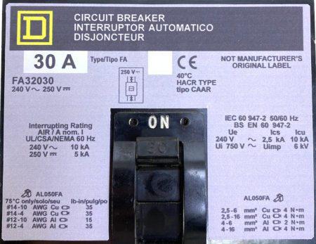 Square D FA32030-NML-GL