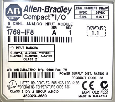 Allen Bradley 1769-IF8