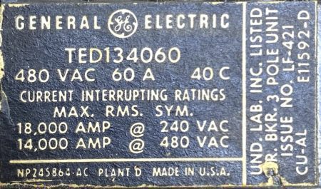 General Electric TED134060-BF