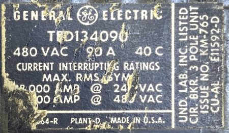 General Electric TED134090-BF