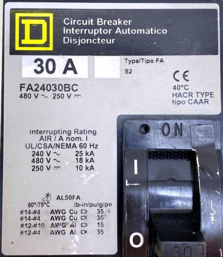 Square D FA24030BC-GL-CHIP