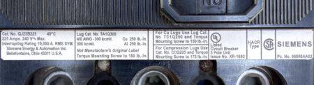 ITE Siemens QJ23B225-NML-BROKE