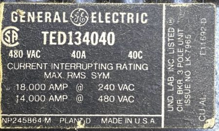 General Electric TED134040-BF