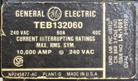 General Electric TEB132060-BF