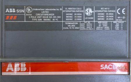 ABB S5N-2P-300A-UV-AUX
