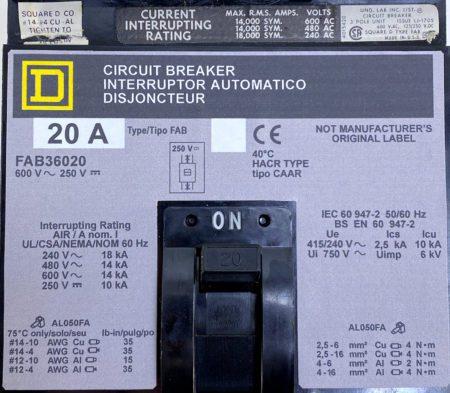 Square D FAB36020-NML-GL-LIR-CBA