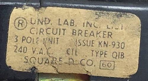 Square D Q1B360