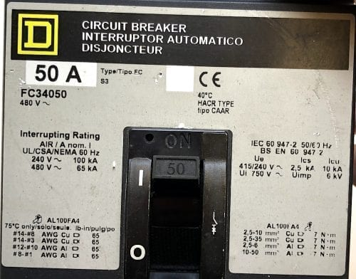 Square D FC34050-GL-NEW