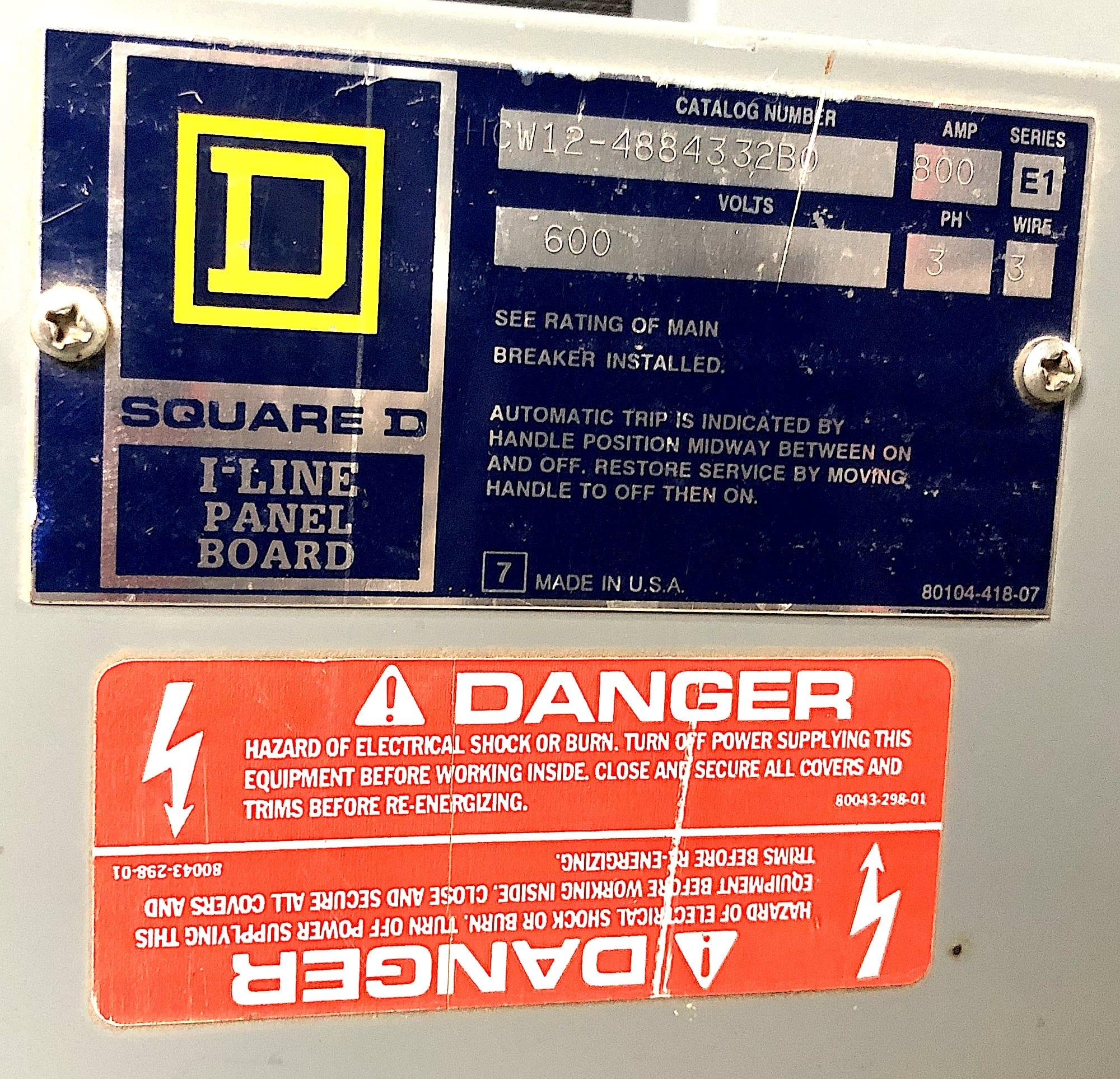 WARRANTY Square D FA34020 20 AMP 3 POLE I LINE Circuit Breaker