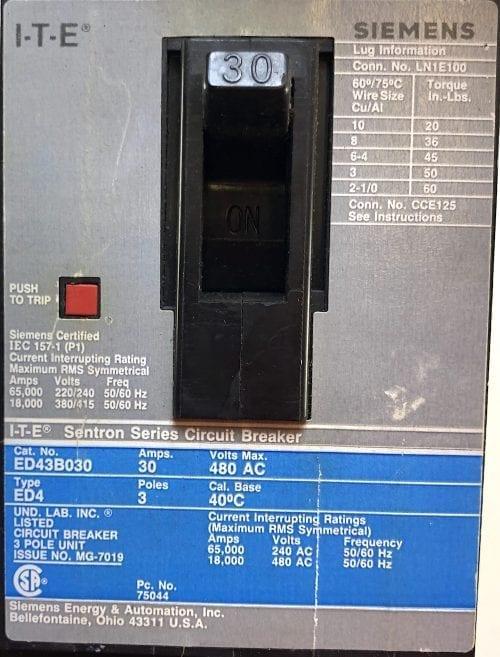ITE Siemens ED43B030-GL