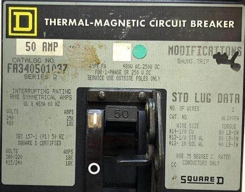 Square D FA340501037-GL-ST