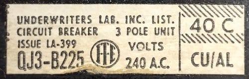 ITE Siemens QJ3B225