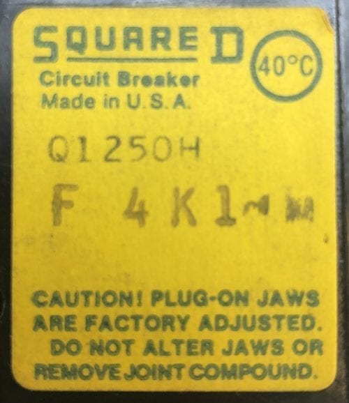 Square D Q1250H