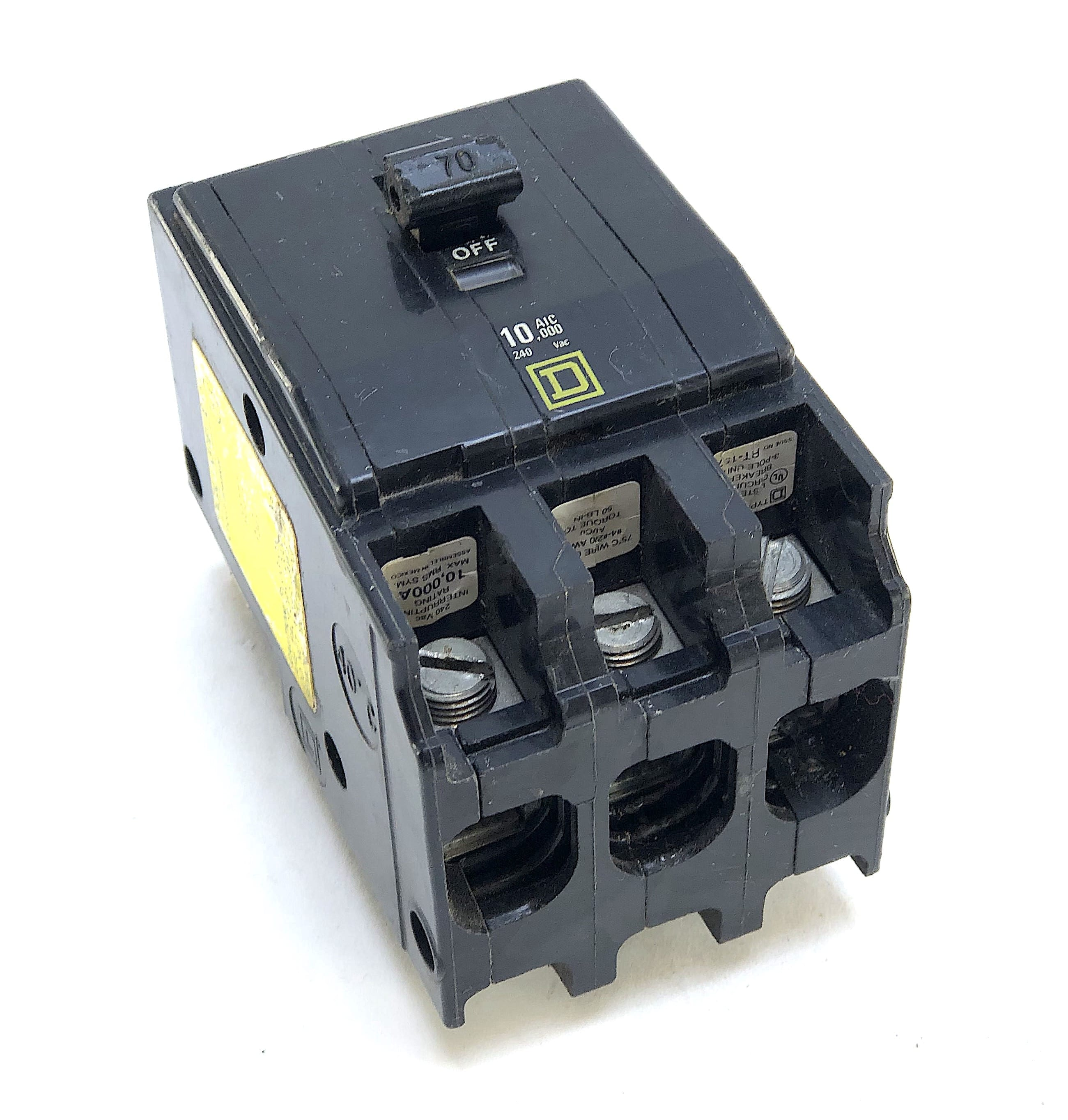 QO370 Square D Circuit Breaker 3-Pole 70 Amp