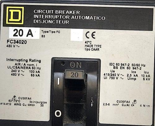 Square D FC34020-GL