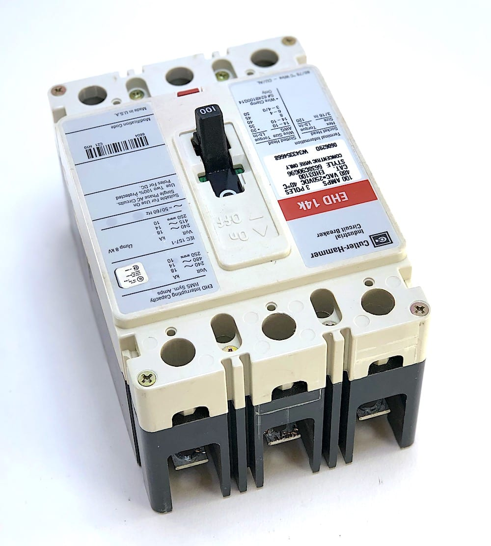 Cutler Hammer EHD3100 3 Pole 100 Amp 480 Vac Circuit