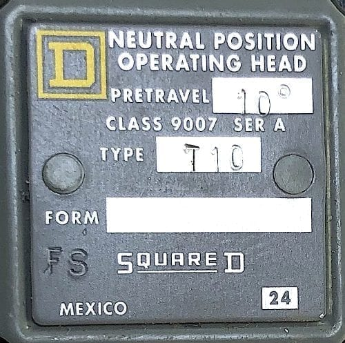 Square D 9007T10-NIB