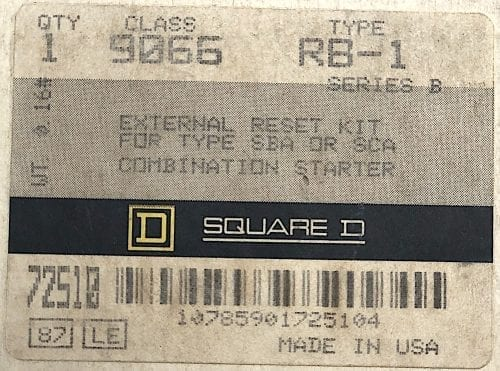 Square D 9066-RB1-NIB