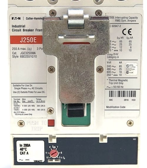 Eaton Cutler Hammer JGE3250NN