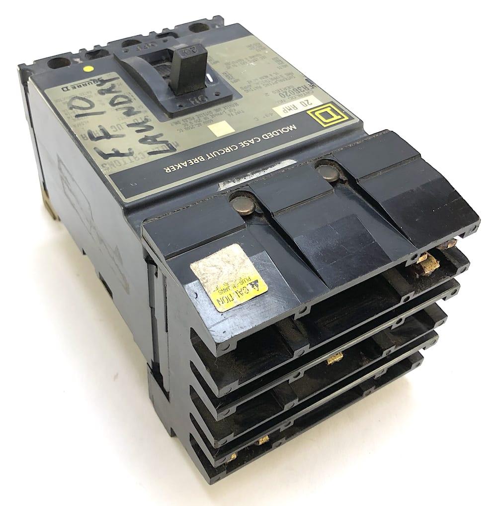 WARRANTY Square D FA36020 20 AMP 3 POLE Circuit Breaker Grey Label