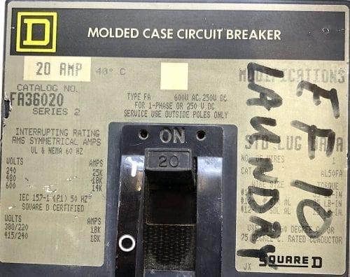 Square D FA36020-GL