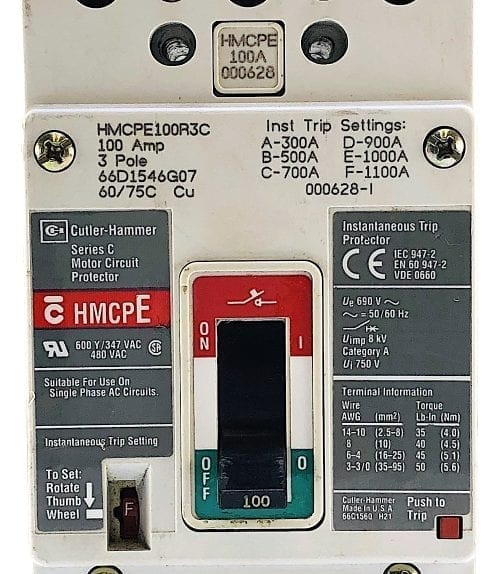 Cutler Hammer HMCPE100R3C
