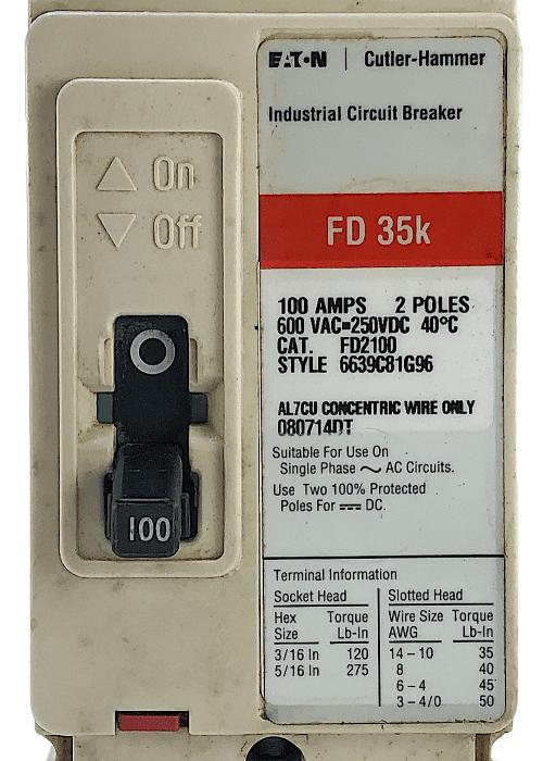 Eaton Cutler Hammer FD2100-RL