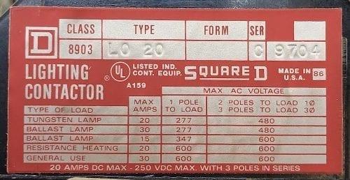 Square D 8903LO20-277