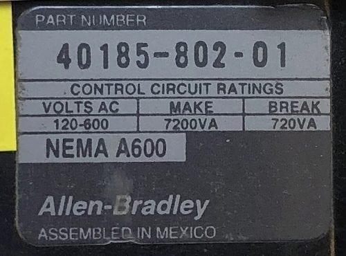Allen Bradley 40185-802-01-NOB