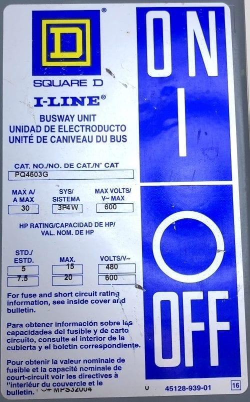 Square D PQ4603G