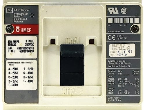 Cutler Hammer HMCP400X5WS10-ST
