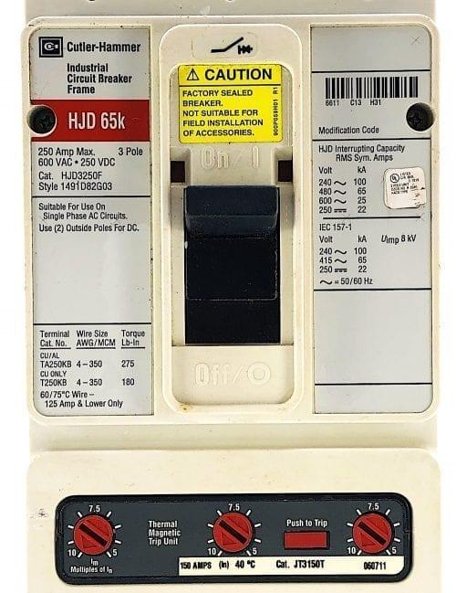 Cutler Hammer HJD3250F-150-RL
