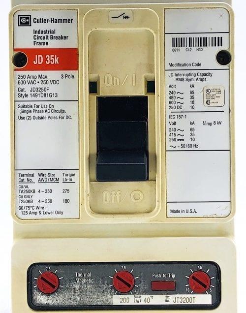 Cutler Hammer JD3250F-200-RL
