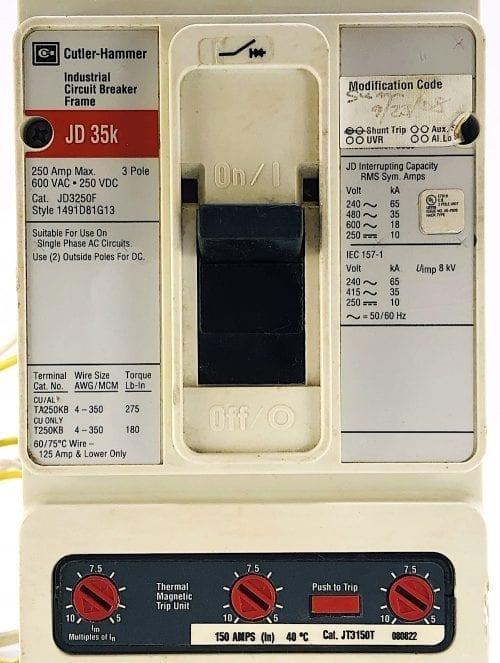Cutler Hammer JD3250F-150-ST-RL