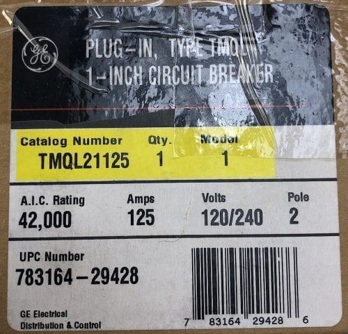 General Electric TMQL21125-NIB