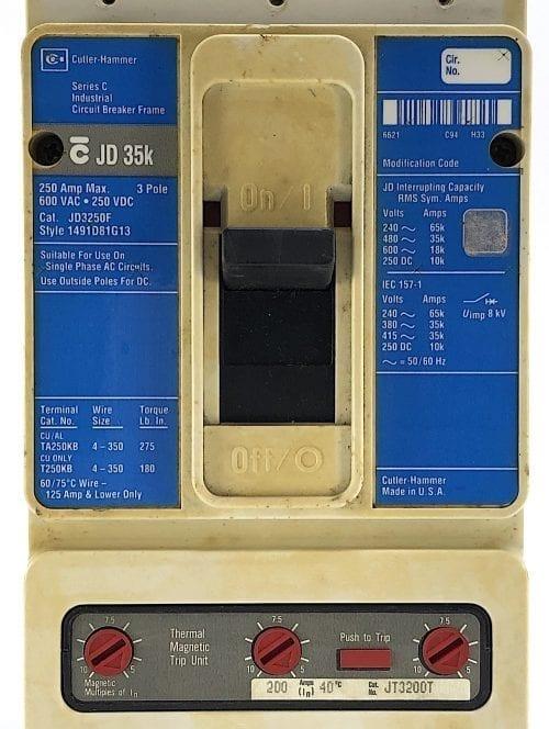 Cutler Hammer JD3250F-200-BL