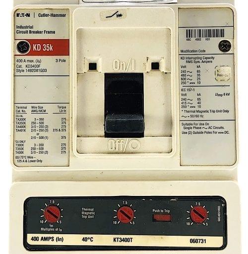 Eaton Cutler Hammer KD3400F-400-RL
