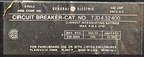 General Electric TJD432400
