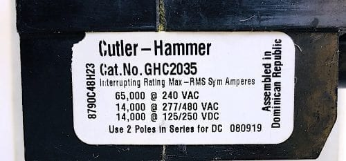 Cutler Hammer GHC2035-NIB