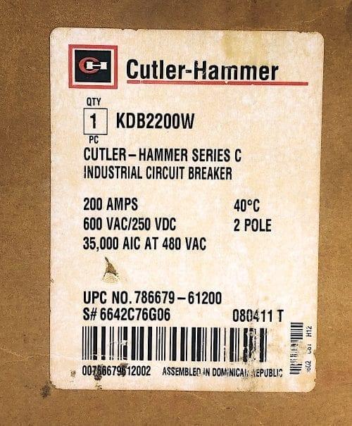 Cutler Hammer KDB2200W-NIB