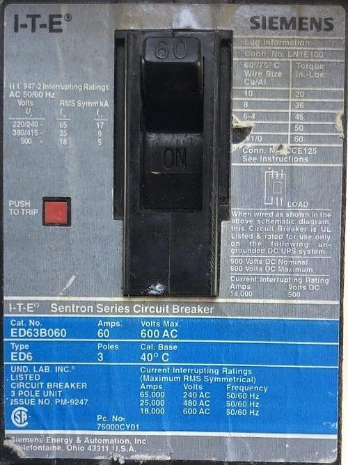 ITE Siemens ED63B060-GL