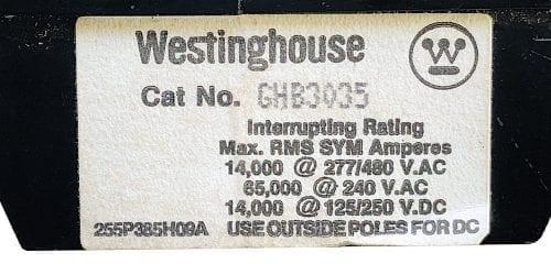 Westinghouse GHB3035