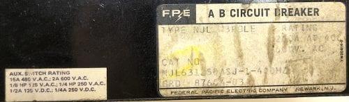 Federal Pacific NJL631250-AUX-ST