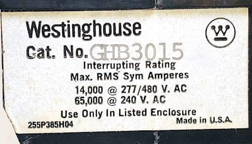 Westinghouse GHB3015